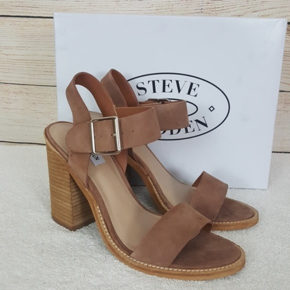 483364cd79b New Steve Madden Castro Tan Leather Sandal NWT